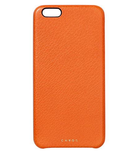CHAOS Leather iPhone 6 case (Orange