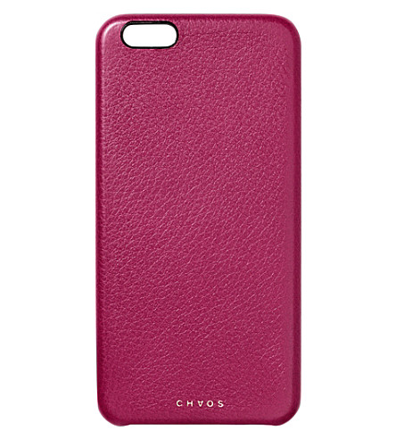 CHAOS Leather iPhone 6+ case (Berry