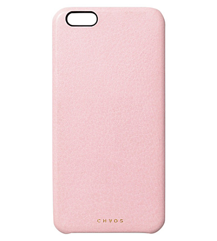 CHAOS Leather iPhone 6+ case (Pink