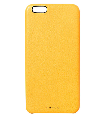 CHAOS Leather iPhone 6+ case (Yellow