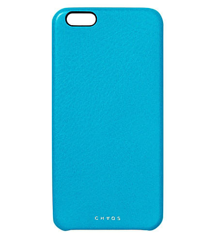 CHAOS Leather iPhone 6+ case (Blue