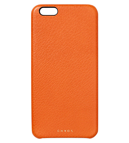 CHAOS Leather iPhone 6+ case (Orange