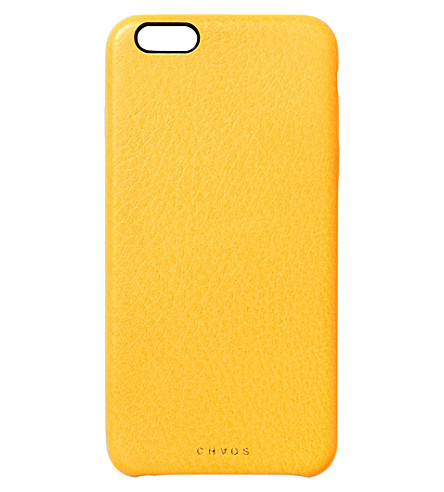 CHAOS Leather iPhone 7 case (Yellow