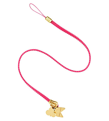 CHAOS Zip lanyard with gold-plated charms (Pink