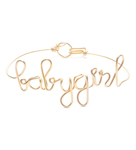 ATELIER PAULIN Words of the Moment Babygirl gold bracelets (Yellow gold