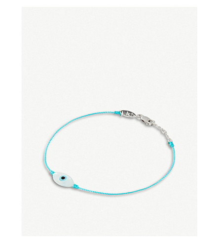 THE ALKEMISTRY Redline Ainara 18ct white-gold string bracelet (White+gold