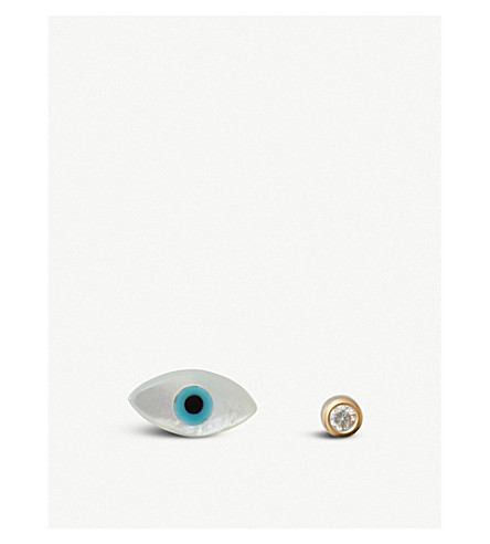 THE ALKEMISTRY Ainara Evil Eye 18ct yellow-gold earrings (Yellow+gold