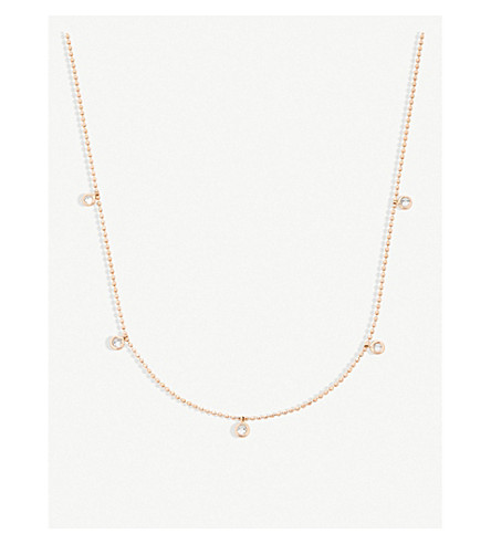 THE ALKEMISTRY Kismet by Milka 14ct rose-gold and diamond necklace (Rose+gold