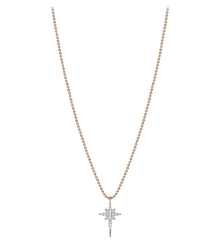 THE ALKEMISTRY Kismet by Milka north star 14ct rose-gold and diamond necklace (Rose+gold