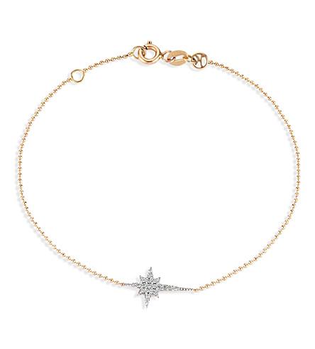 THE ALKEMISTRY Kismet by Milka North Star 14ct rose gold and diamond bracelet (Rose+gold