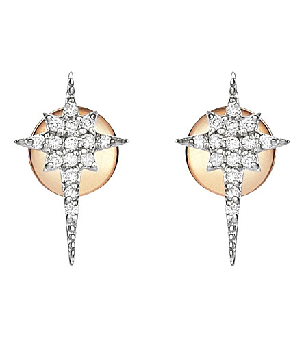 THE ALKEMISTRY Kismet by Milka north star 14ct rose-gold and diamond earrings (Rose+gold