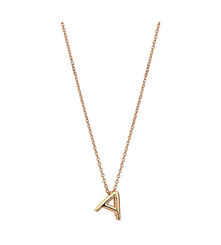THE ALKEMISTRY Kismet by Milka 14ct rose-gold initial A necklace