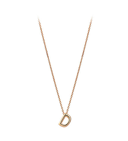 THE ALKEMISTRY Kismet by Milka 14ct rose-gold initial D necklace