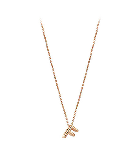 THE ALKEMISTRY Kismet by Milka 14ct rose-gold initial F necklace