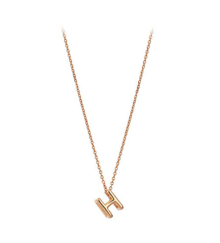 THE ALKEMISTRY Kismet by Milka 14ct rose-gold initial H necklace