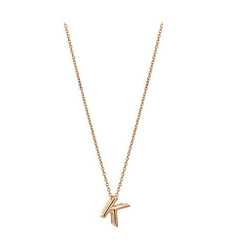 THE ALKEMISTRY Kismet by Milka 14ct rose-gold initial K necklace