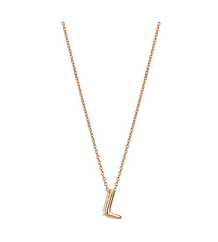 THE ALKEMISTRY Kismet by Milka 14ct rose-gold initial L necklace