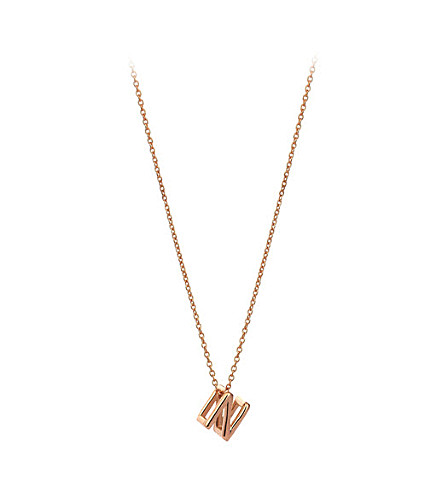 THE ALKEMISTRY Kismet by Milka 14ct rose-gold initial N necklace