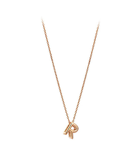 THE ALKEMISTRY Kismet by Milka 14ct rose-gold initial R necklace
