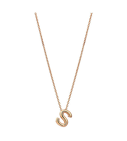 THE ALKEMISTRY Kismet by Milka 14ct rose-gold initial S necklace