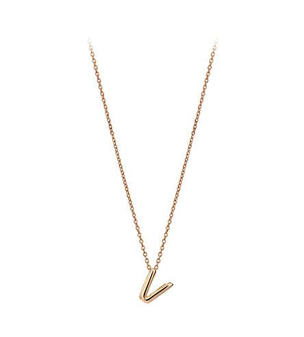 THE ALKEMISTRY Kismet by Milka 14ct rose-gold initial V necklace