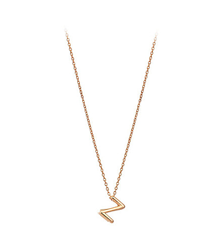 THE ALKEMISTRY Kismet by Milka 14ct rose-gold initial Z necklace