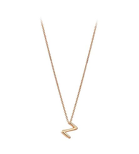 THE ALKEMISTRY Kismet by Milka 14ct rose-gold initial Z necklace