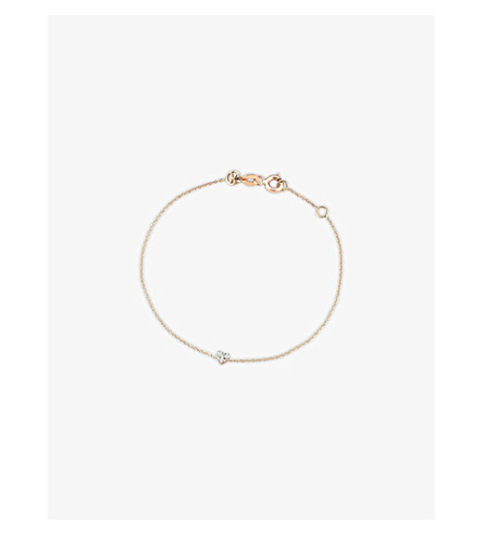 THE ALKEMISTRY Kismet by Milka diamond heart 14ct rose-gold heart bracelet (Rose+gold