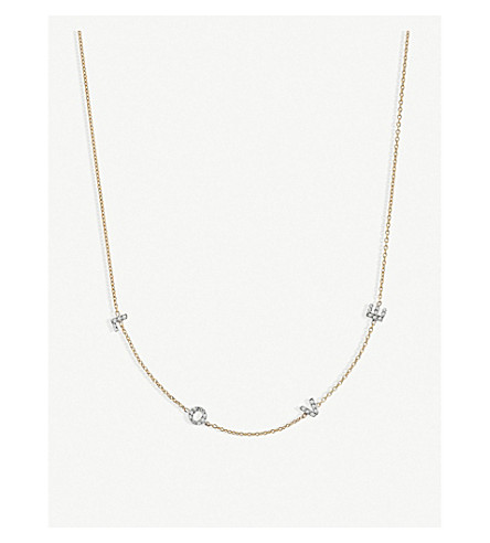 THE ALKEMISTRY Kismet by Milka Love 14ct rose-gold and diamond necklace (Rose+gold