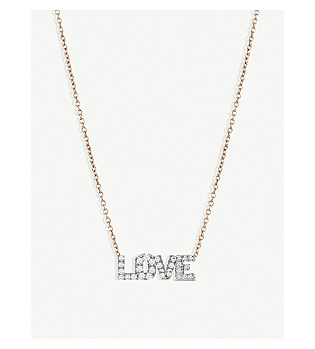 THE ALKEMISTRY Kismet by Milka Love 14ct rose gold and diamond necklace (Rose+gold