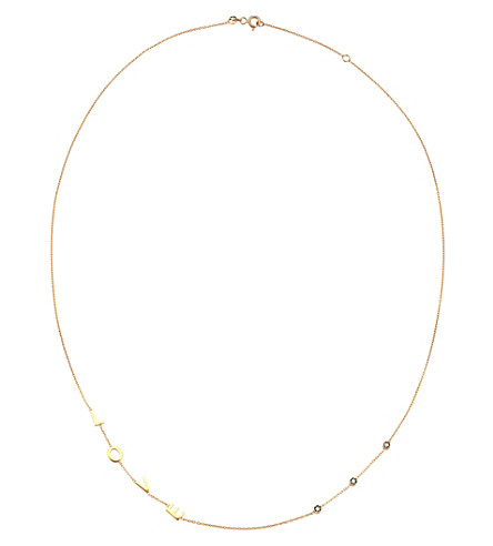 THE ALKEMISTRY Kismet by Milka 14ct rose gold LOVE necklace (Rose+gold