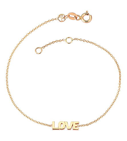 THE ALKEMISTRY Love 14ct rose-gold bracelet (Rose+gold