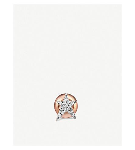 THE ALKEMISTRY 14ct rose gold diamond earring (Rose+gold