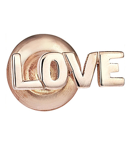 THE ALKEMISTRY Love 14ct rose-gold stud earrings
