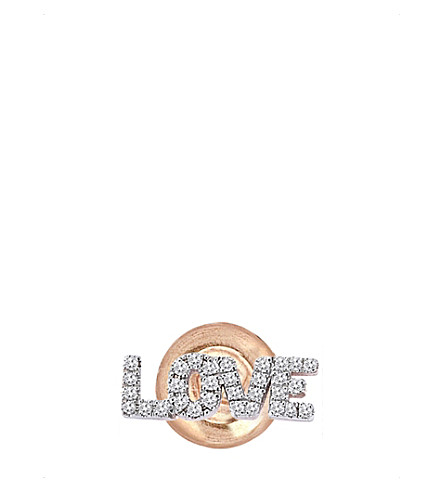 THE ALKEMISTRY Kismet by Milka 14ct rose-gold and diamond earring (Rose+gold