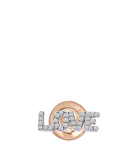 THE ALKEMISTRY 命运 Milka 14ct 玫瑰金和钻石耳环 (玫瑰 + 金
