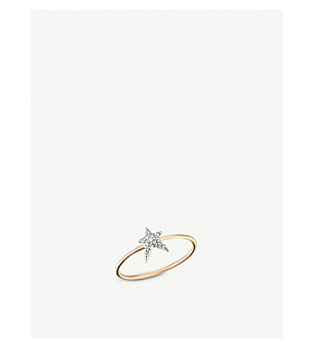 THE ALKEMISTRY Kismet By Milka Star Struck 14ct rose-gold and diamond ring (Rose+gold