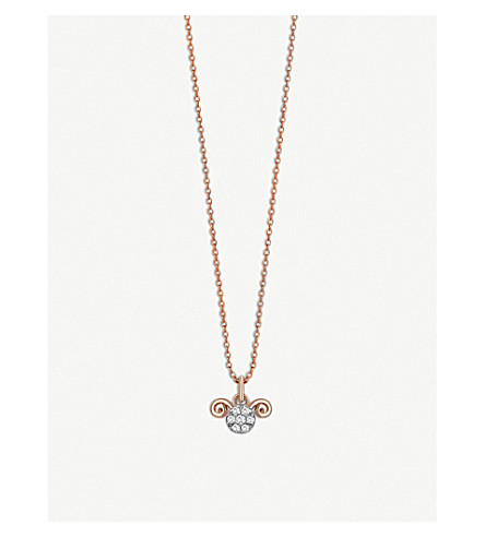THE ALKEMISTRY Kismet By Milka Aries 14ct rose-gold and diamond necklace (Rose+gold