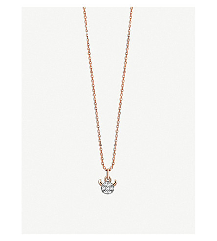 THE ALKEMISTRY Kismet By Milka Taurus 14ct rose-gold and diamond necklace (Rose+gold