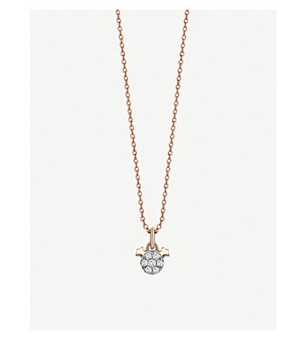 THE ALKEMISTRY Kismet By Milka 14ct rose-gold Gemini necklace (Rose+gold