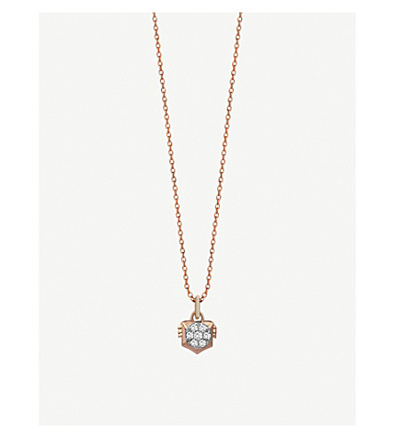 THE ALKEMISTRY Kismet By Milka Leo 14ct rose-gold and diamond necklace (Rose+gold