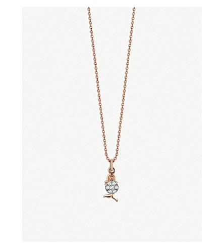 THE ALKEMISTRY Kismet By Milka Virgo 14ct rose-gold and diamond necklace (Rose+gold