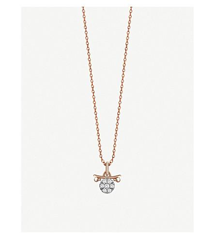 THE ALKEMISTRY Kismet By Milka 14ct rose-gold Libra necklace (Rose+gold