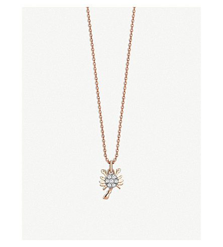 THE ALKEMISTRY Kismet By Milka Scorpion 14ct rose-gold and diamond necklace (Rose+gold