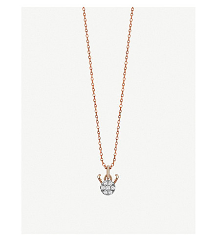 THE ALKEMISTRY Kismet By Milka 14ct rose-gold and diamond Capricorn necklace (Rose+gold
