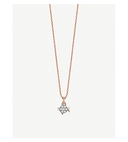 THE ALKEMISTRY Kismet By Milka Pisces 14ct rose-gold and diamond necklace (Rose+gold