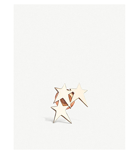 THE ALKEMISTRY Kismet by Milka 3 stars 14ct rose-gold ear cuff (Rose+gold