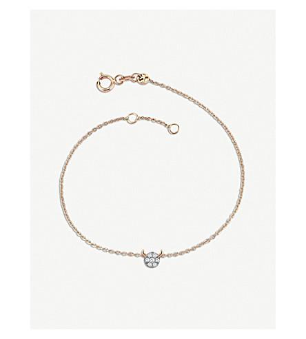 THE ALKEMISTRY Kismet by Milka 14ct rose-gold and diamond Taurus bracelet (Rose+gold