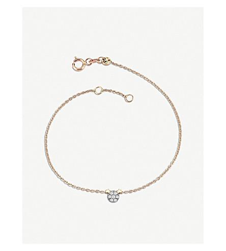 THE ALKEMISTRY Kismet by Milka 14ct rose-gold and diamond gemini bracelet (Rose+gold
