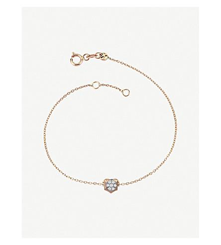 THE ALKEMISTRY Kismet by Milka 14ct rose-gold and diamond Leo bracelet (Rose+gold